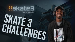 WHY IS HE ON FIRE TODAY??? Skate 3 Challenges - Nigel Jones