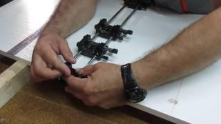 Кондуктор мебельный «Gidmaster» для сверления в пласть и торец. Universal jig.