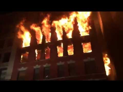 FDNY RESPONDING TO & BATTLING MASSIVE 6 ALARM FIRE ON W. 17TH ST. IN CHELSEA AREA OF MANHATTAN, NYC.