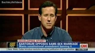 Santorum Wants Constitutional Amendment Banning Same-Sex Marriage