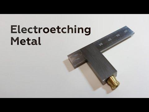 Electroetching Metal