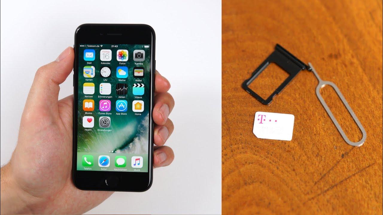 Iphone Sim Karte Einsetzen.Apple Iphone 7 7 Plus Einrichten Nano Sim Einlegen Deutsch Swagtab