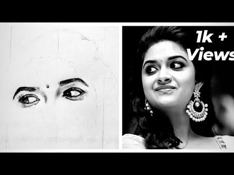 keerthy suresh pencil drawings for beginners, keerthi ...