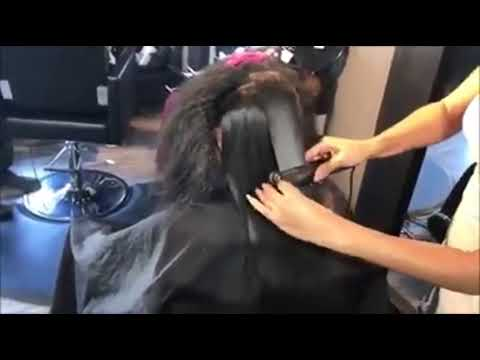 Professional Ceramic Steam Hair Straightener Vapor Flat Iron Curler Steamer Hair Styling Tool