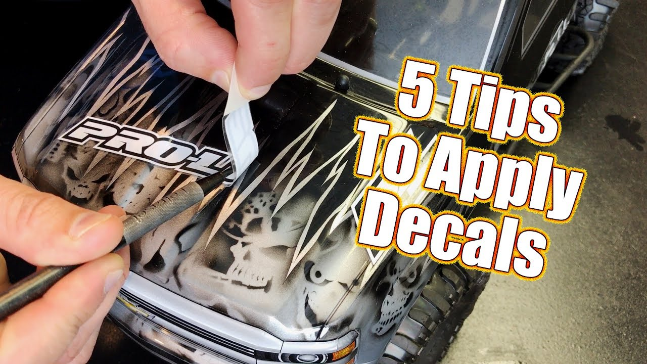Dont mess up 5 techniques to apply decals