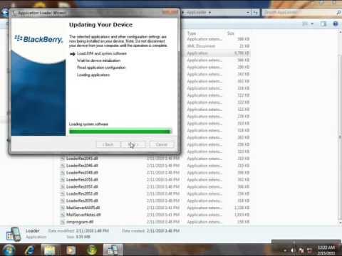 Reinstalling blackberry 8520 software