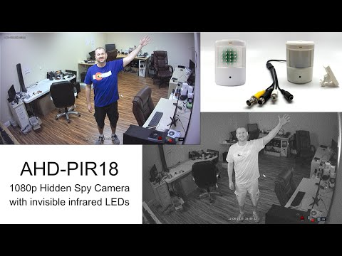 1080p HD Hidden Spy Camera Invisible Infrared Surveillance Video