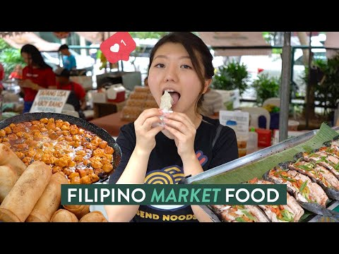 THIS FILIPINO MARKET Is A FOODIE HEAVEN! Salcedo Market In Makati, Philippines