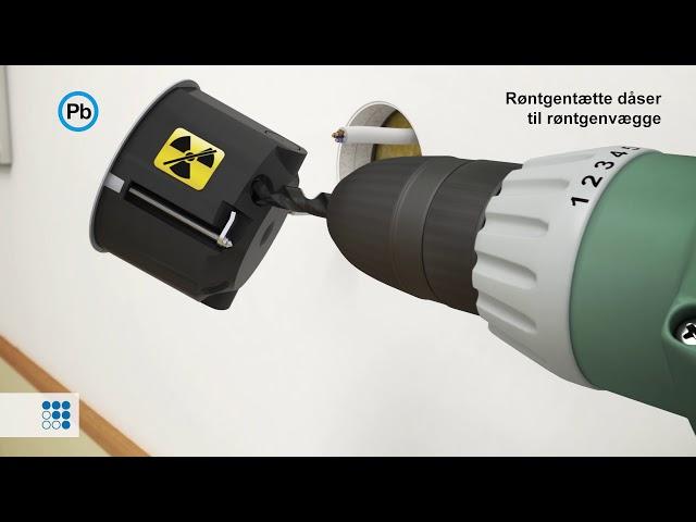 Røntgentæt dåse til blyholdige røntgenvægge