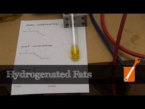 Hydrogenation: transform liquid oil into solid fat