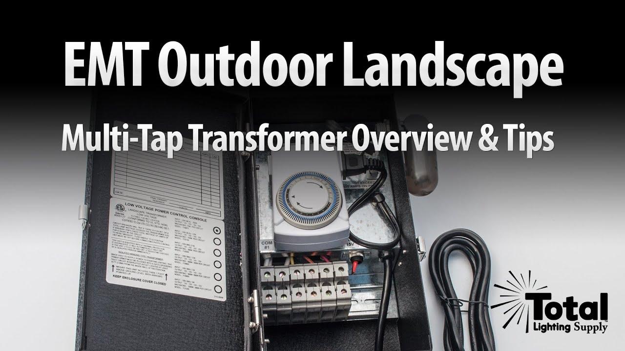 emt outdoor landscape multi tap transformer overview tips by total transformers [ 1280 x 720 Pixel ]