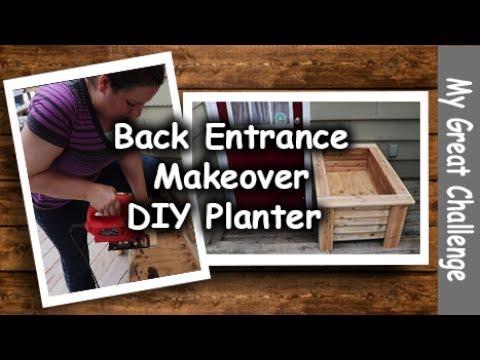 Back Entrance Makeover || DIY Planter || Part One ||