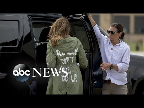 Melania Trump's jacket causes stir on social media