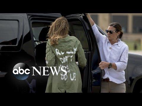 Melania Trump\'s jacket causes stir on social media