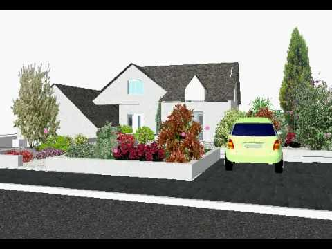 Etude de l 39 am nagement d 39 un jardin moderne youtube - Amenagement jardin moderne ...