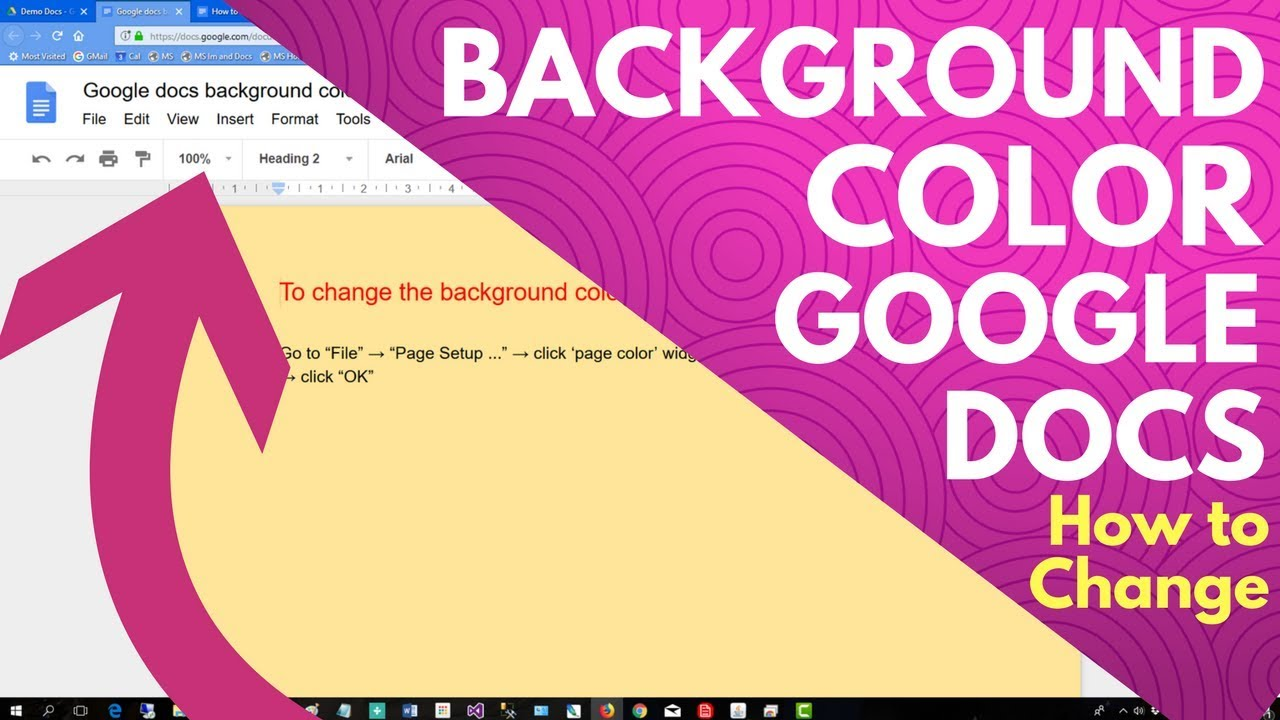 google docs background color how to change youtube. Black Bedroom Furniture Sets. Home Design Ideas