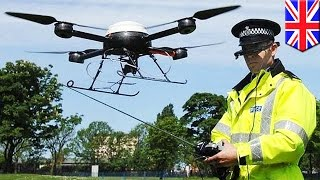 Police drones  British cops launch 24 hour drone flying squad in Devon and Cornwall   TomoNews