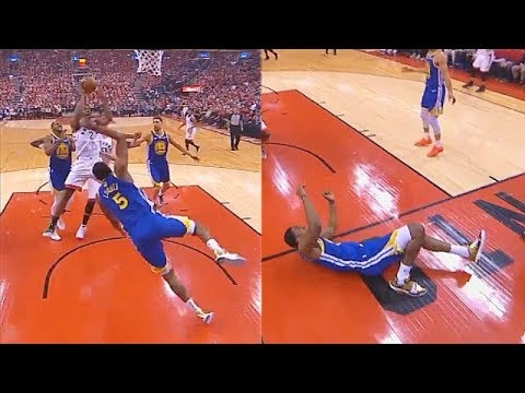 kawhi-leonard-injures-kevon-looney-after-bulldozing-him-with-crazy-strength-in-game-2!
