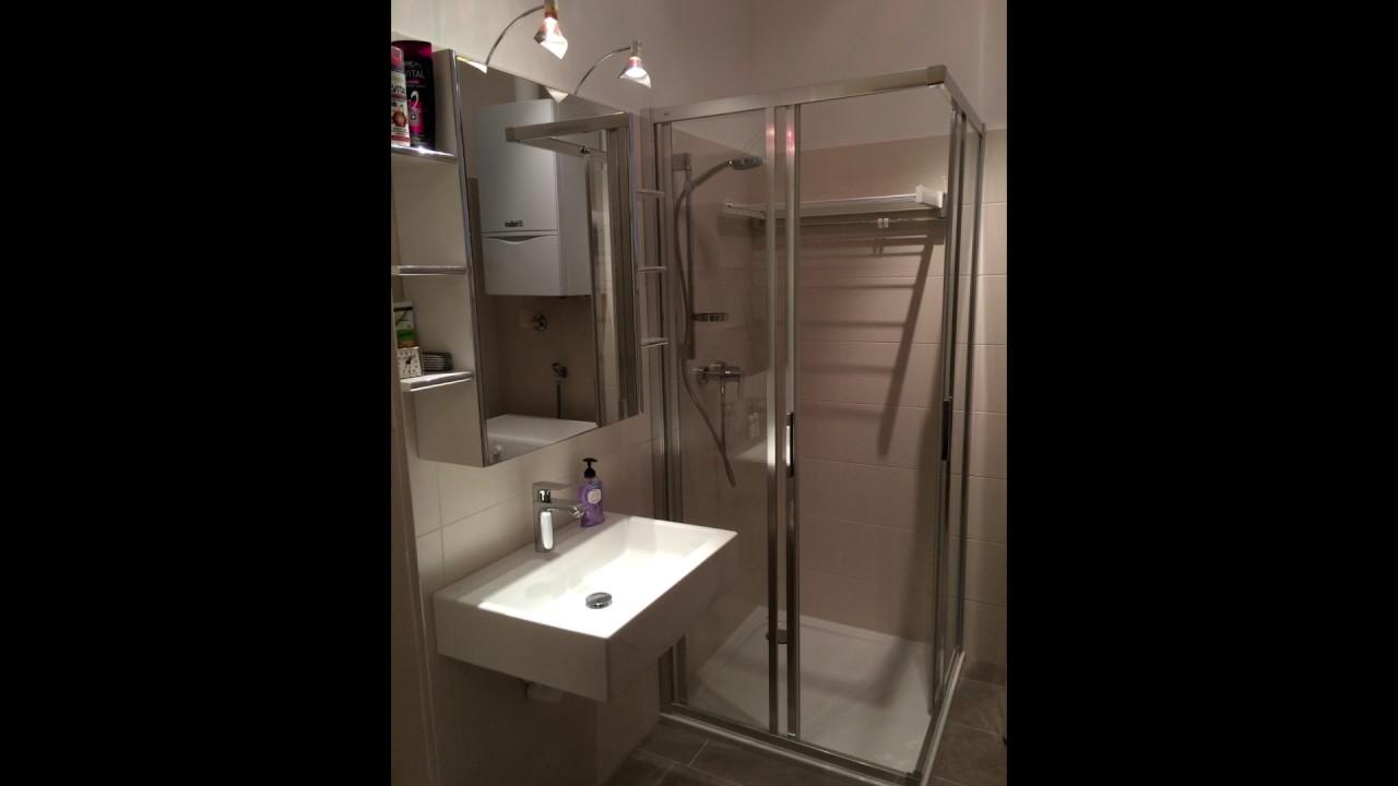 Badezimmerumbau von Badewanne auf Dusche - YouTube