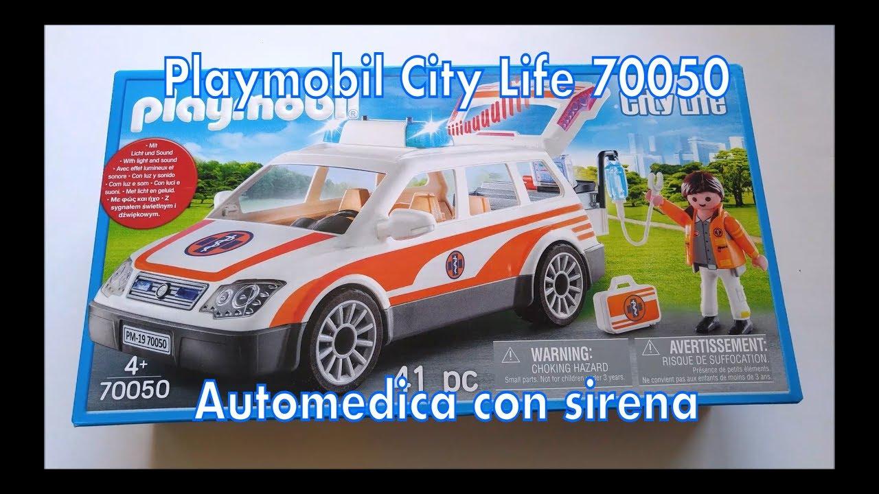 Playmobil 70050 Automatica con sirena (City Life) - YouTube