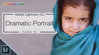 Lightroom 6 tutorial - How too edit dramatic portraits in Lightroom CC