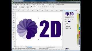 Simple 2D Logo Tutorial, Tutorial Corel Draw, Basic Corel Draw, Mastering Corel Draw