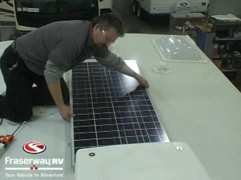 Rv Solar Panels Roof Installation Overview And Video