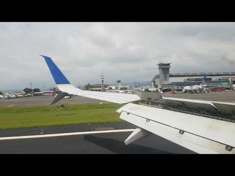 Aterrizando en San Jose Costa Rica United UA1181