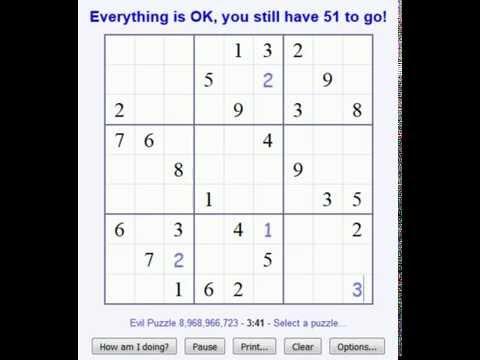 Sudoku! #2 Evil Difficulty