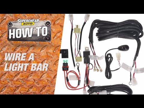 how to  wire a led light bar // supercheap auto
