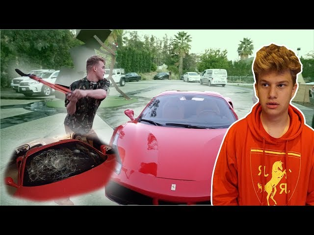 Jake Paul Smashed Youtube Kid S Ferrari Co Says Dad Who Rented It