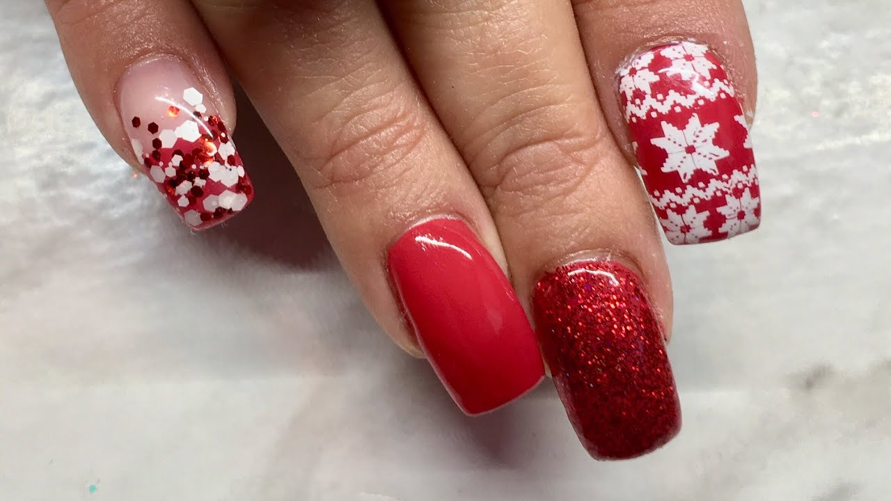 Canni Gel Paint Christmas Nails - YouTube