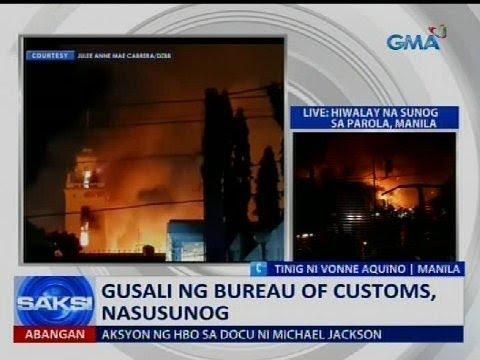 Gusali ng Bureau of Customs at residential area sa Mandaluyong, nasunog