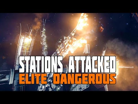 Elite Dangerous - Thargoids Attack, Stations Damaged and Burning!