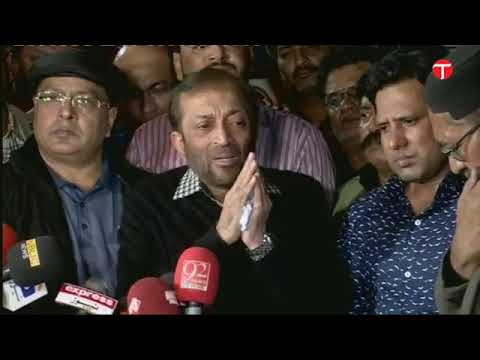 MQM Dr Farooq Sattar addresses the media in Karachi after Ali Raza Abidi death
