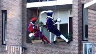 Zwarte pakjes Piet breekt servies en Sinterklaas liedjes intocht te paard op Amerigo Raalte