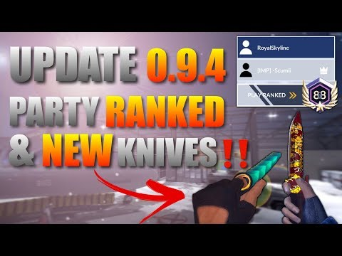 Critical Ops Update 0.9.4 New Party Ranked & Knives‼️
