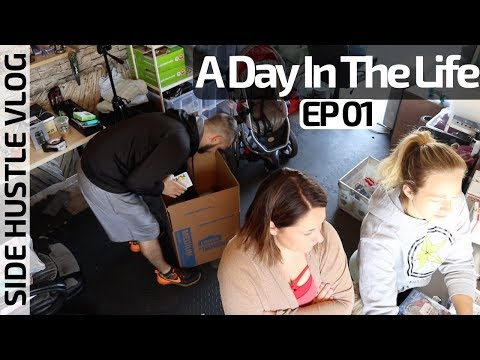 A Day In The Life of Amazon-eBay Sellers   Side Hustle Vlog Ep 01