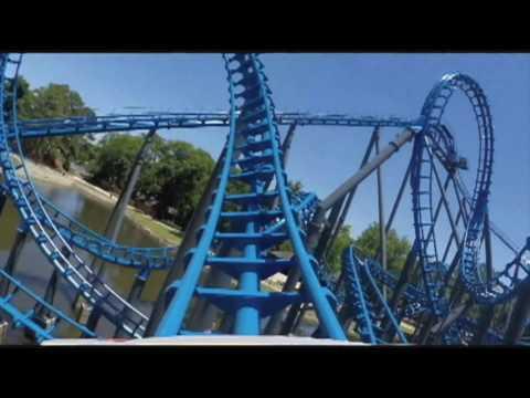 Blue Hawk POV HD Six Flags Over Georgia Roller Coaster Atlanta Vekoma 2016 Refurbishment New Trains!