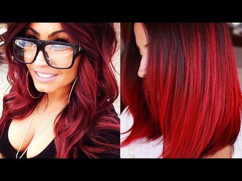 RED HAIRSTYLES COLOR IDEAS 2018