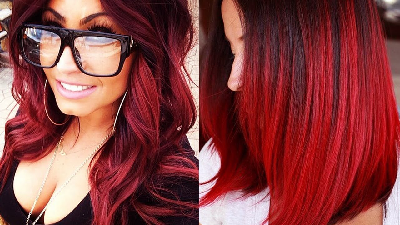 RED HAIRSTYLES 2018  RED HAIR LOOKS  RED HAIR COLOR