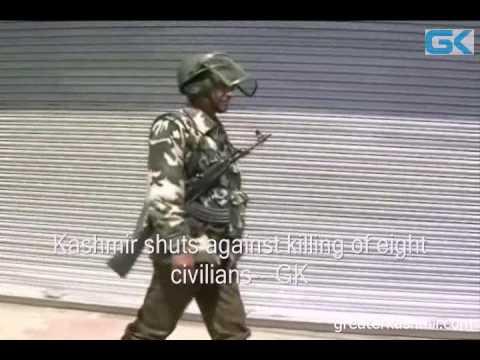 Kashmir shuts against killing of eight civilians