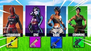 ON ESSAYE THE TOP 1 WITH THE DEFI SKIN ALÉATOIRE ON FORTNITE BATTLE ROYALE!!!!!
