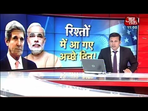 John Kerry reaches 7 RCR to meet PM Modi