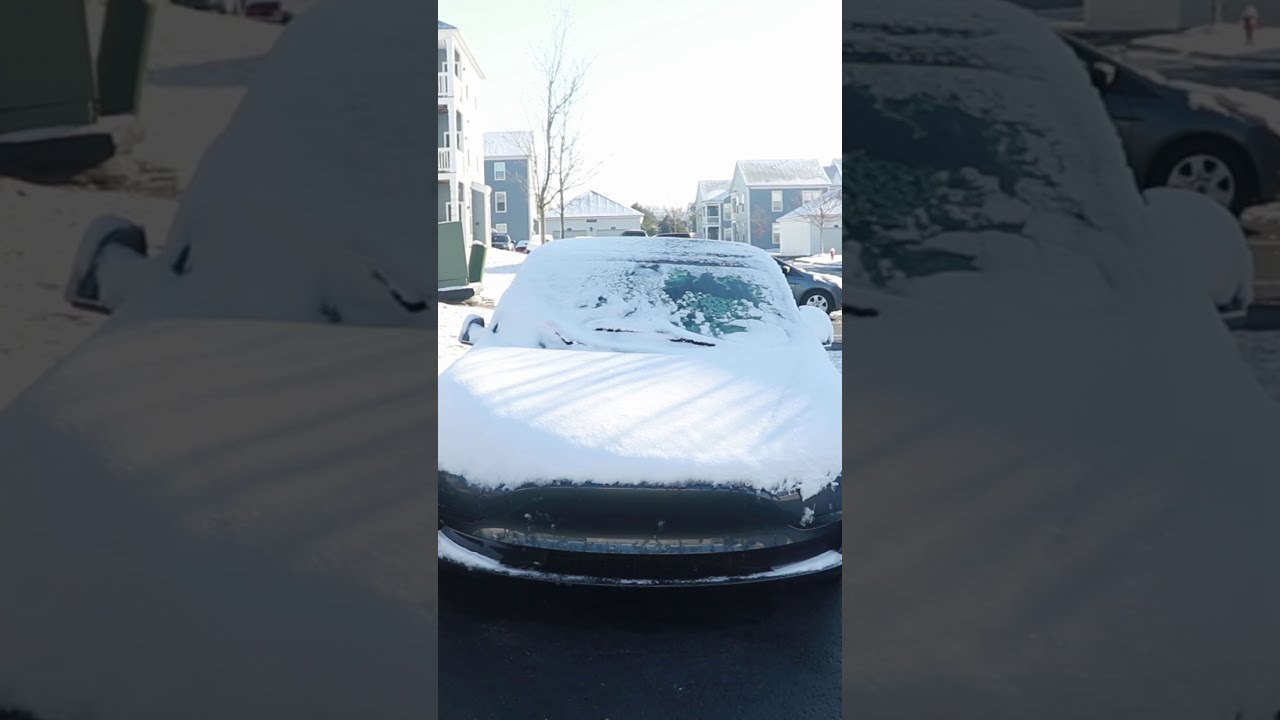 Prevent wipers freezing on your Tesla with Wiper Service Mode! #shorts