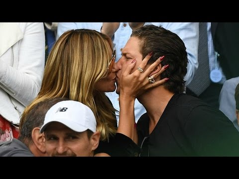 Heidi Klum Make Out With Her Boyfriend Vito Schnabel At Wimbledon !!