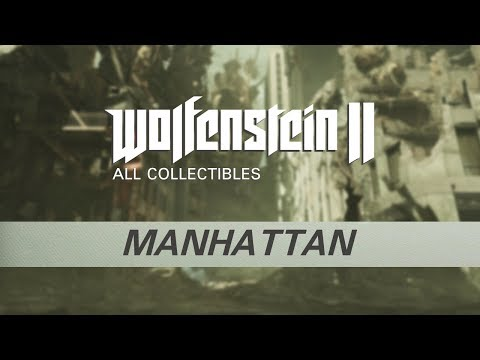 Wolfenstein 2 - Manhattan - All Collectibles (Gold, Starcards, Concepts, Toys, Records, Readables)