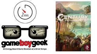 Century: Eastern Wonders & Sand to Sea (Allegro 2-min) Review with the Game Boy Geek