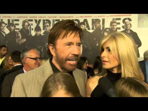 "Chuck Norris - Excitement about ""The Expendables 2"" at Premiere in L.A. - 2012"