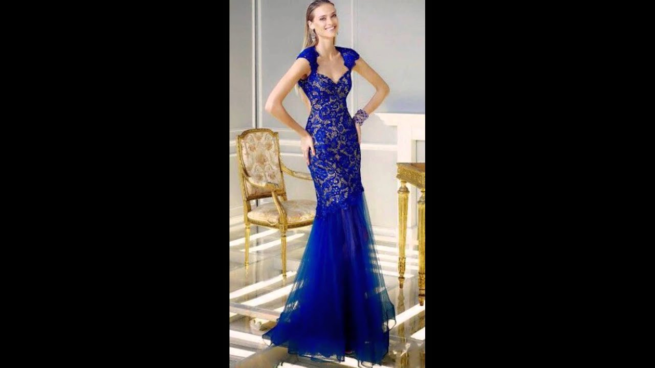 Elegante Vestido Color Azul Rey - YouTube